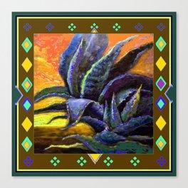 WESTERN NUTMEG COLOR DESERT AGAVE CACTUS Canvas Print