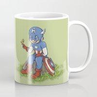 avenger Mugs featuring  chibi little avenger by theginga15