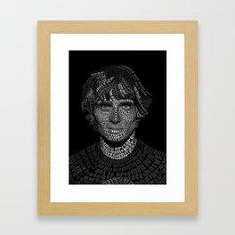 Tyson Ritter Word Portrait Framed Art Print