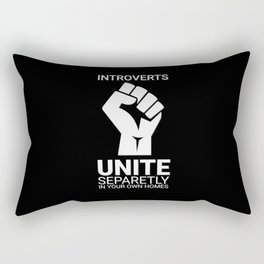 Introverts unite- Dark Rectangular Pillow