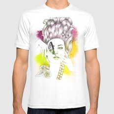 Butterfly Lady MEDIUM White Mens Fitted Tee