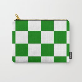 Large Checkered - White and Green Carry-All Pouch