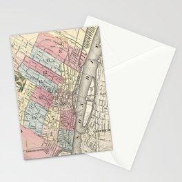 Vintage Map of Albany NY (1874)  Stationery Cards
