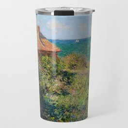 Claude Monet - Fisherman's Cottage on the Cliffs at Varengeville Travel Mug