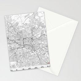 Glasgow Map Line Stationery Cards