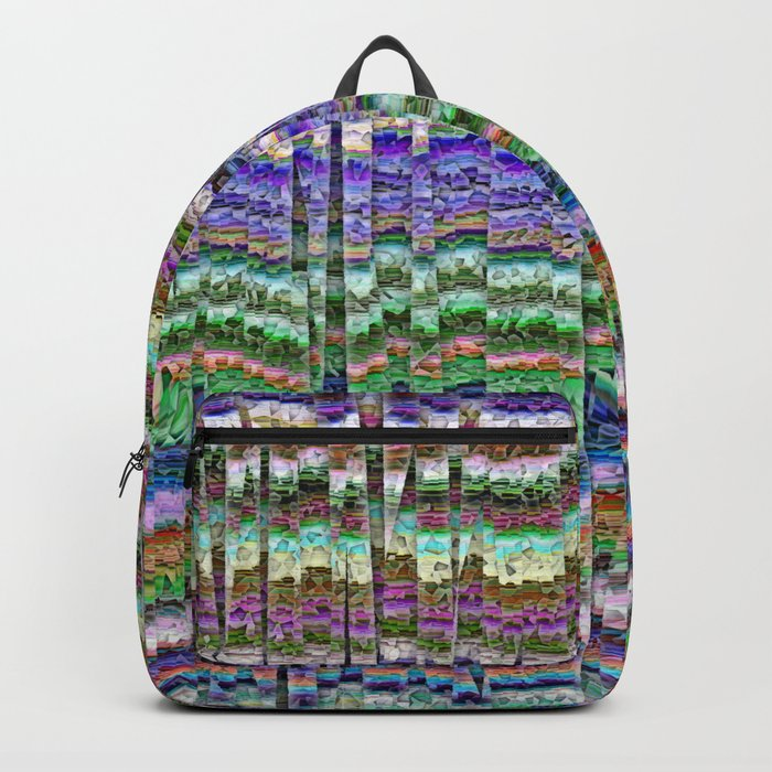 Textured Mosaic Layers Backpack