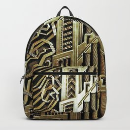 Metallic art nouveau design, vintage,elegant,chic,art nouveau, belle epoque,beautiful,gold,metallic, Backpack