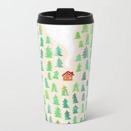 Alone in the woods Metal Travel Mug
