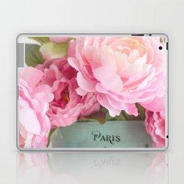 Paris Pink Peonies Bouquet Laptop & iPad Skin