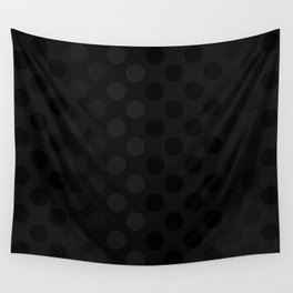 """""""Black & Grey Burlap Texture & Polka Dots"""" Wall Tapestry"""
