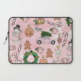 THE VERY PINK CHRISTMAS WATERCOLOR PATTERN Laptop Sleeve