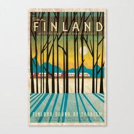 Finland Pendolino Rail, Vintage Style Travel Poster Canvas Print