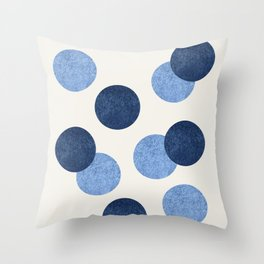 Blue Dots - Abstract Pattern Throw Pillow