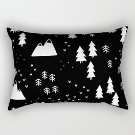 Woods in Black Rectangular Pillow