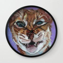 Sassy Cat Portrait Wall Clock