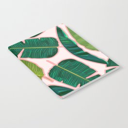 Banana Leaf Blush #society6 #decor #buyart Notebook