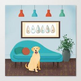 A Labrador Retriever Makes A House A Home Canvas Print