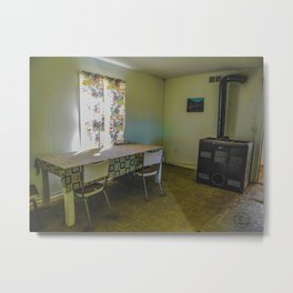 Dining Room Left as it Was Metal Print