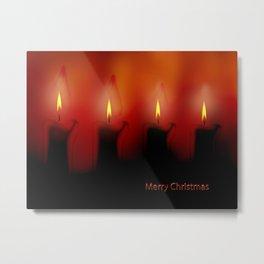 Merry X-mas Candles Metal Print
