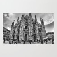 milan Area & Throw Rugs featuring Milan Duomo by Cristina Serrano
