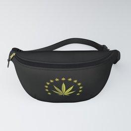Cannabis leaf | Smoke Weed Pot Marijuana Gift Idea Fanny Pack