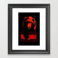 Vulnerable Sloth bear Framed Art Print
