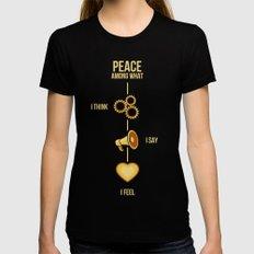 Inner Peace MEDIUM Black Womens Fitted Tee