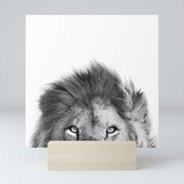 lion peek a boo Mini Art Print