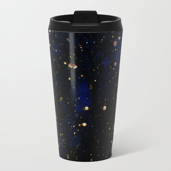 Glittered Snow Metal Travel Mug