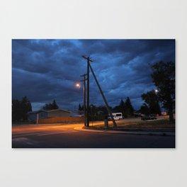 Tilted Cloud-Line Canvas Print
