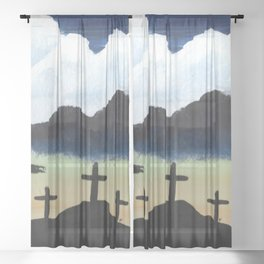 It Is Finished Sheer Curtain