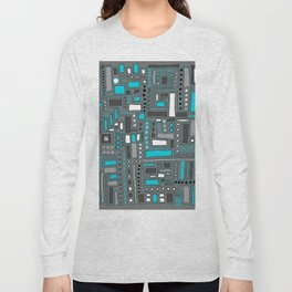 Turquoise Dream (Pattern) Long Sleeve T-shirt