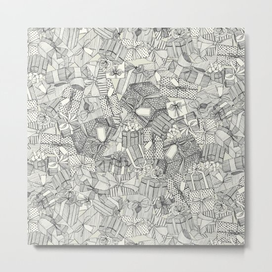 pencil parcels ivory Metal Print