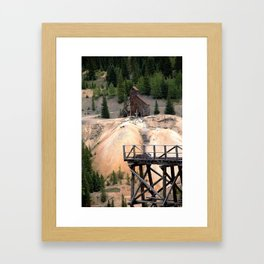 1880's Gold Rush - Mine Headshaft on Red Mountain from the Idarado Ore Cart Track Framed Art Print