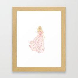 The Pink Dress Framed Art Print
