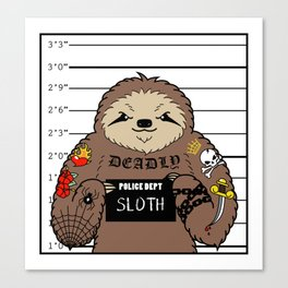 Prison Sloth Canvas Print