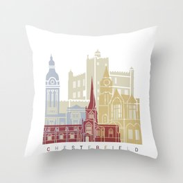Chesterfield skyline poster Throw Pillow