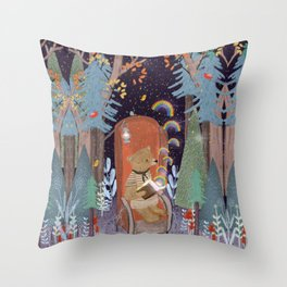the little book of rainbows Throw Pillow