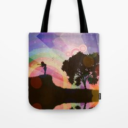 Freedom and rainbow Tote Bag