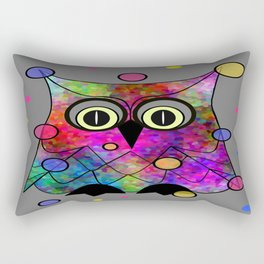 Psychedelic Owl Rectangular Pillow