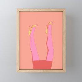 Leggy Blonde Framed Mini Art Print