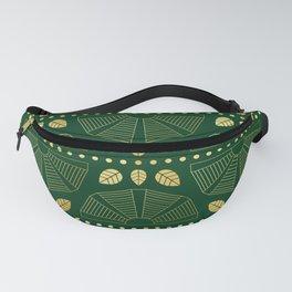 Emerald Art Deco Fan Fanny Pack
