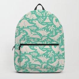 Delightful Dinos (teal) Backpack