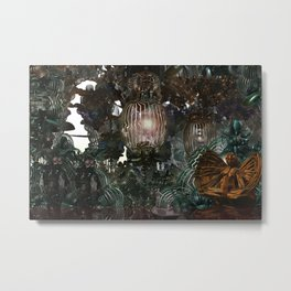 The Threshold of Death (Alchemical Garden) Metal Print