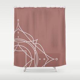 Geometric Illustration No.3 Shower Curtain