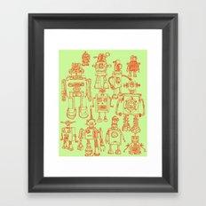 Robots! Framed Art Print