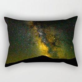 Beautiful Yellow Milky way Galaxy At Night Stars Sky Landscape Photography Rectangular Pillow