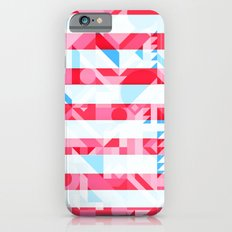 USA AMERICAN FLAG GEOMETRIC (MULTI COLOR, RED, WHITE, BLUE) iPhone 6s Slim Case