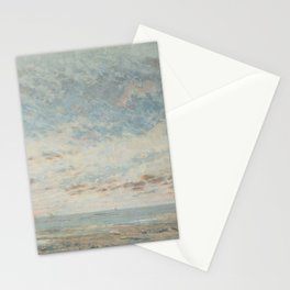 "Gustave Courbet ""Low Tide at Trouville"" Stationery Cards"