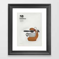 Coffee Contraption #2: Atomic Framed Art Print